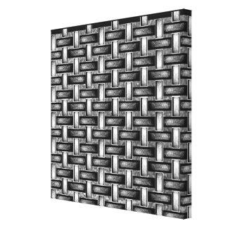 19th Pattern; Custom Basket Weave (Black/White) Canvas Print