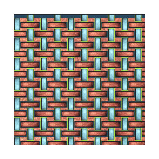 19th Pattern; Custom Basket Weave (Color) Canvas Print