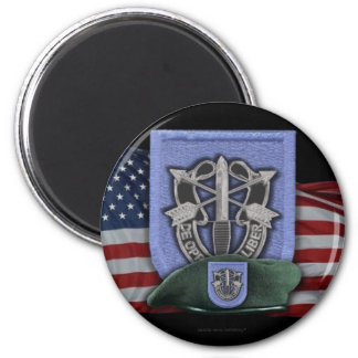 19th special forces group flash veterans vets magn 6 cm round magnet