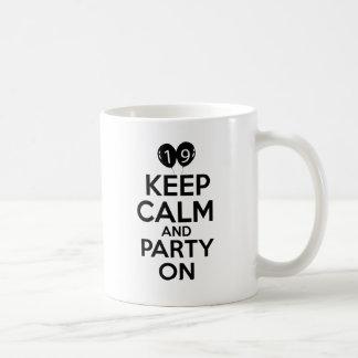 19th year birthday designs coffee mug