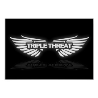 19x13 Triple Threat Poster