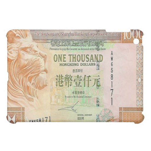 1,000 Hong Kong Dollar Bill iPad Case