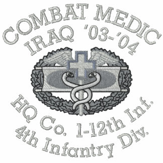 1-12th Infantry Iraq Combat Medic Shirt Polos