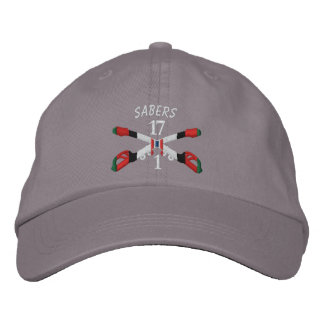 1-17th Cavalry Afghanistan Crossed Sabers Hat Embroidered Hats