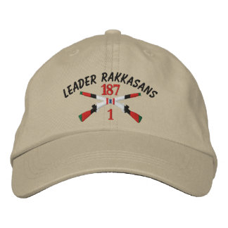 1-187th Infantry Afghanistan Crossed Rifles Embroidered Hat