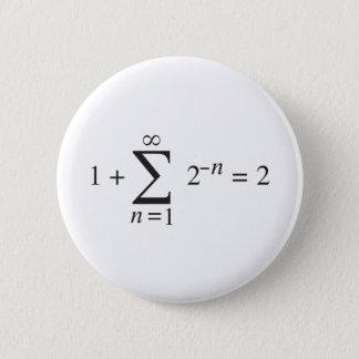 1 + 1 = 2 _ summation notation 6 cm round badge