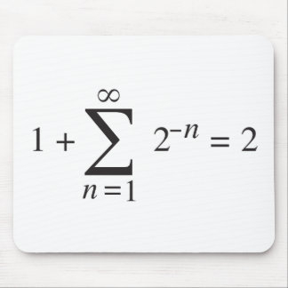 1 + 1 = 2 _ summation notation mouse pad