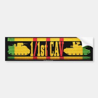 1/1st Cav Track & Tank Bumper Sticker