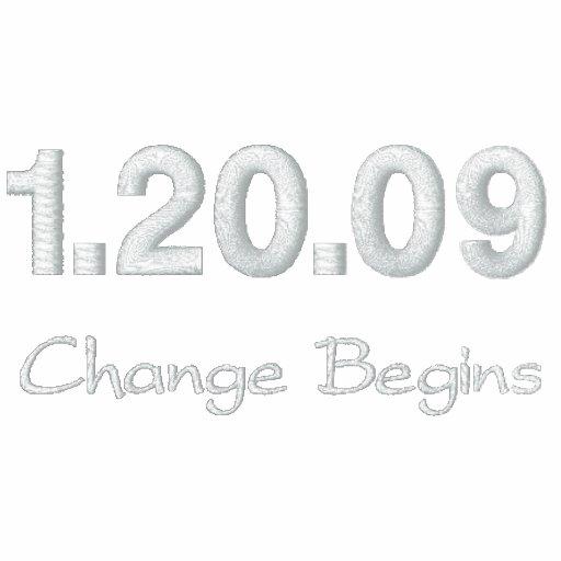 1.20.09 Change Begins Embroidered Hoodie