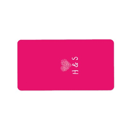 "1.25""x2.75"" Hershey's Miniature Pink Floral Petals Label"