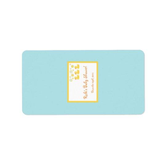 "1.25""x2.75"" Hershey's Miniature Rubber Ducky Bubbl Label"