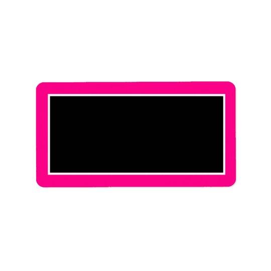 "1.25""x2.75"" Hot Pink Zebra Print Mailing Address Address Label"