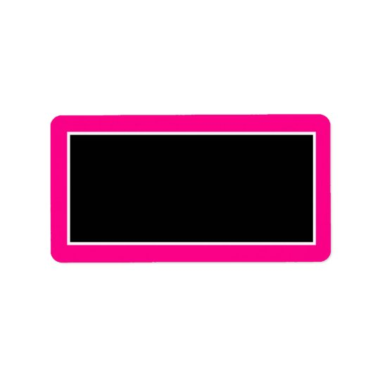 "1.25""x2.75"" Hot Pink Zebra Print Mailing Address Label"
