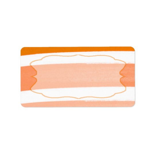 "1.25""x2.75"" Mailing Address Ombre Stripe Orange Address Label"