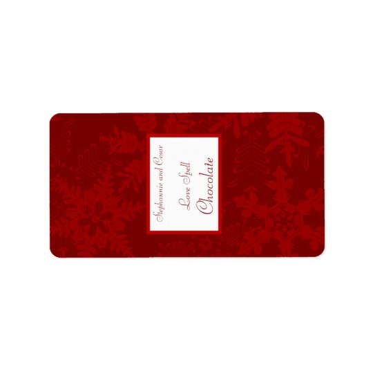 "1.25"" x 2.75"" Hershey's Miniature Christmas Red Label"