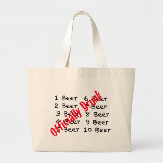 1,2,3, Beer Officially Drunk Tote Bags
