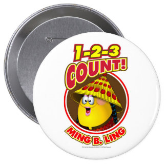 1-2-3 Count Ming B Ling Pinback Button