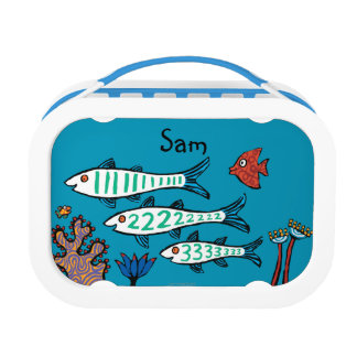 1, 2, 3 Fish with Little Fish and Coral Lunch Boxes