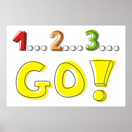 1 2 3 go race winner motivational poster zazzle. Black Bedroom Furniture Sets. Home Design Ideas