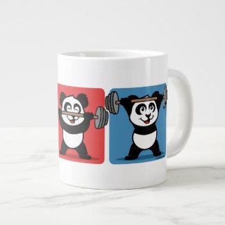 1-2-3 Weightlifting Panda Jumbo Mug