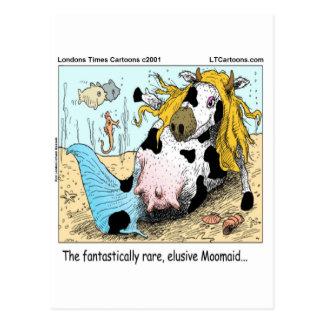 1/2 Cow 1/2 Mermaid Moomaid Funny Postcard