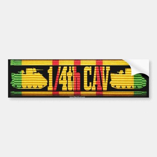 1/4th Cav ACAV Tracks Bumper Stickers