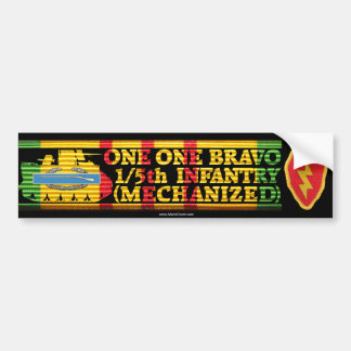 1/5th Inf. Mech. One One Bravo Bumper Sticker