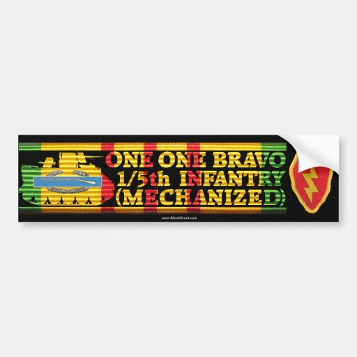 1/5th Inf. Mech. One One Bravo Bumper Sticker