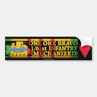 1/61st Inf. Mech. One One Bravo Bumper Sticker