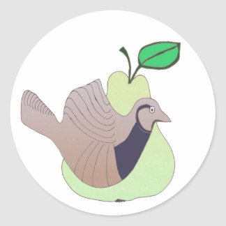 1 A Partridge in a Pear Tree Round Sticker