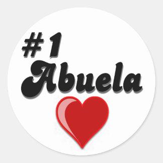 #1 Abuela Granparent's Day Gifts Round Sticker