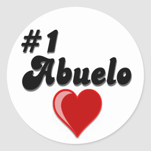 #1 Abuelo Grandparents Day Gifts Round Stickers