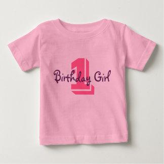 1, Birthday Girl Baby T-Shirt