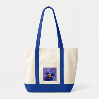 1 Blue Beauty Pansy Tote Bag