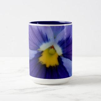 1 Blue Beauty Pansy Two-Tone Coffee Mug