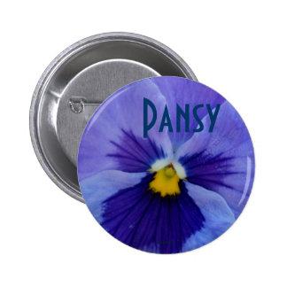 1 Blue Beauty Pansy Pinback Buttons