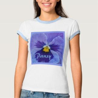 1 Blue Beauty Pansy Tee Shirt