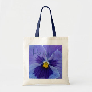 1 Blue Beauty Pansy Budget Tote Bag