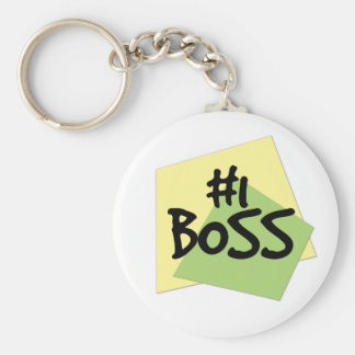 #1 Boss Basic Round Button Key Ring