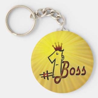 # 1 boss cool text design keychain