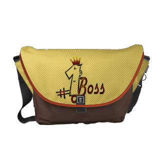 #1 boss Messenger Bag