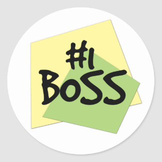 #1 Boss Round Sticker