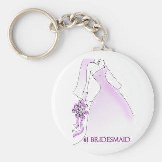 #1 Bridesmaid Keychain