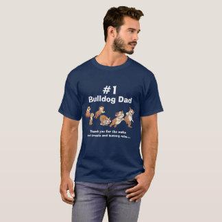 #1 Bulldog Dad (Dark) T-Shirt