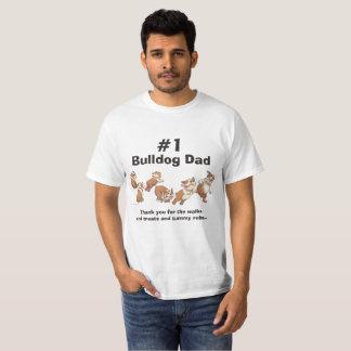 #1 Bulldog Dad (Light) T-Shirt
