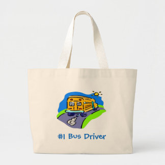 #1 Bus Driver Large Tote Bag