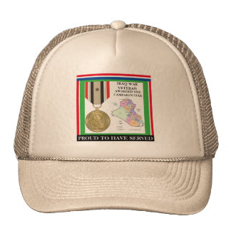 1 CAMPAIGN STAR IRAQ WAR VETERAN CAP