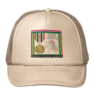 1 CAMPAIGN STAR IRAQ WAR VETERAN TRUCKER HAT