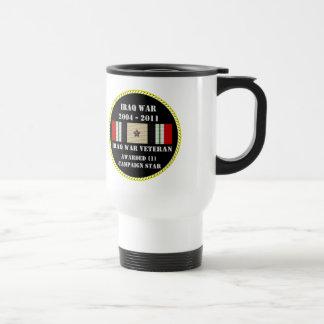 1 CAMPAIGN STAR IRAQ WAR VETERAN COFFEE MUGS
