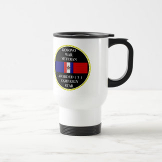 1 CAMPAIGN STAR KOSOVO WAR VETERAN COFFEE MUGS